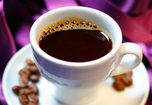 Kaffekopp med lila band
