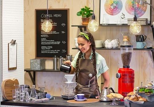 Löfbergs Barista på café