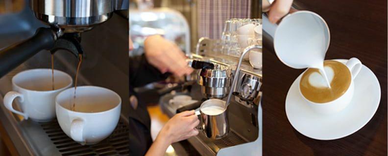 Barista, espresso och cappuccino