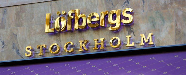 Löfbergs Stockholm skylt