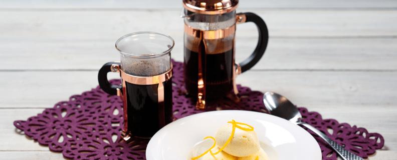 Kaffeglass med apelsin