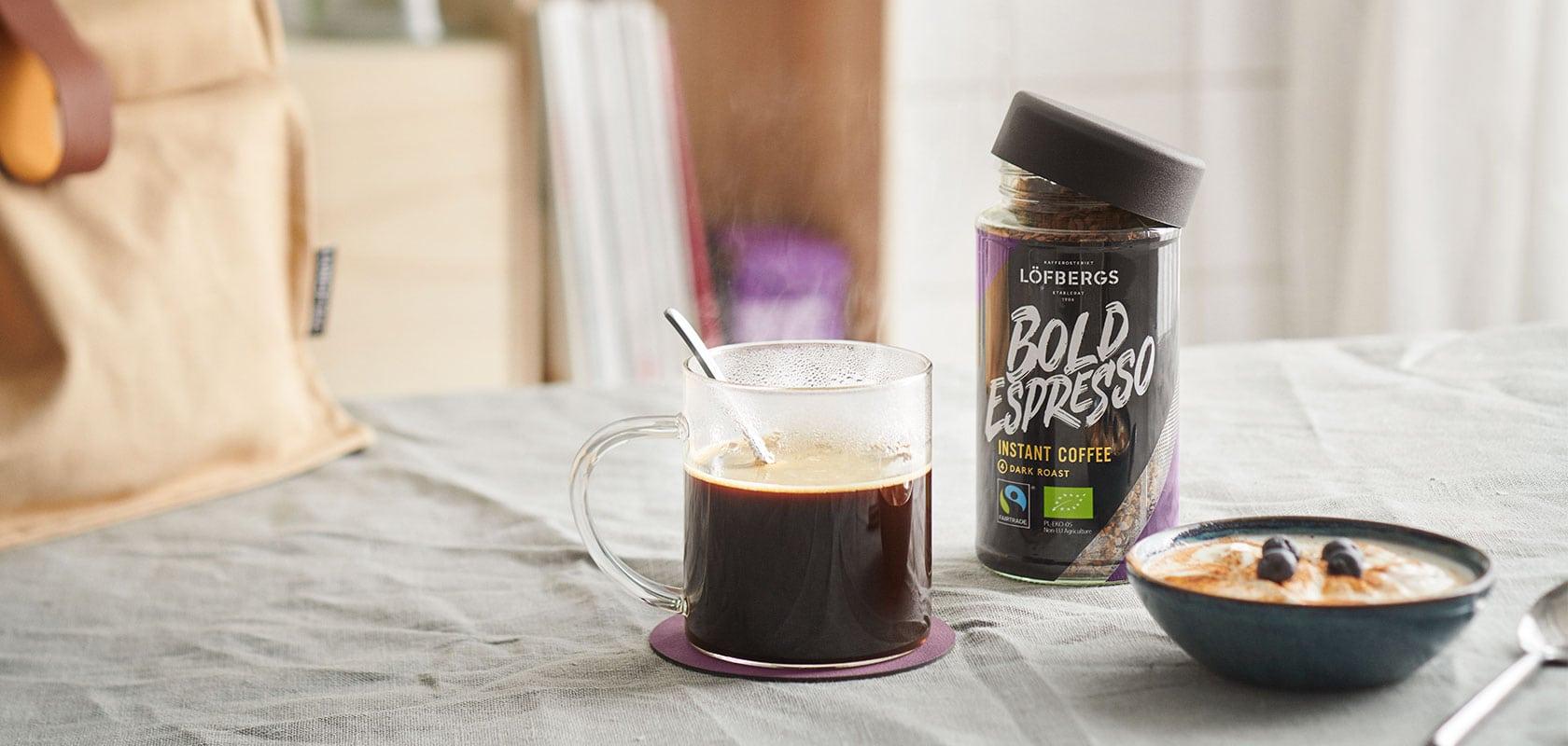 frystorkat kaffe farligt