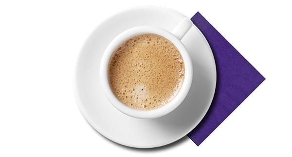 Kaffekopp och servett
